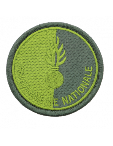Ecusson tissu Gendarmerie Nationale VERT